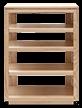 Audio Rack Solid Wood